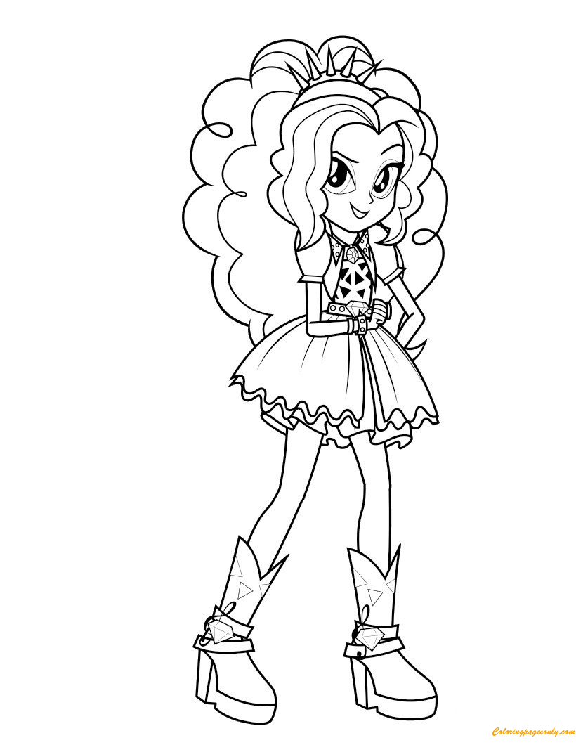 Adagio Dazzle From My Little Pony Coloring Page Free Coloring