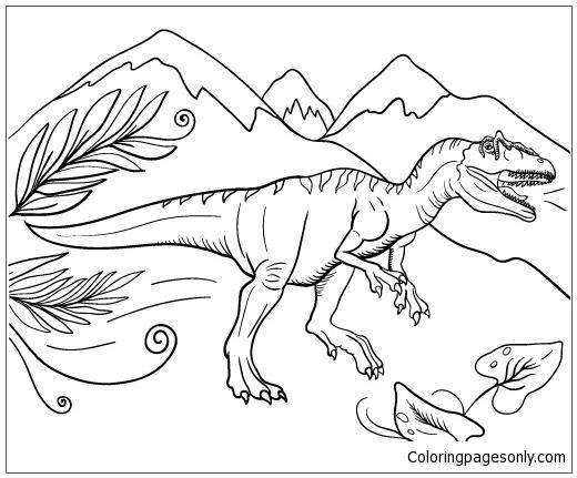 Drawn Velociraptor Logo