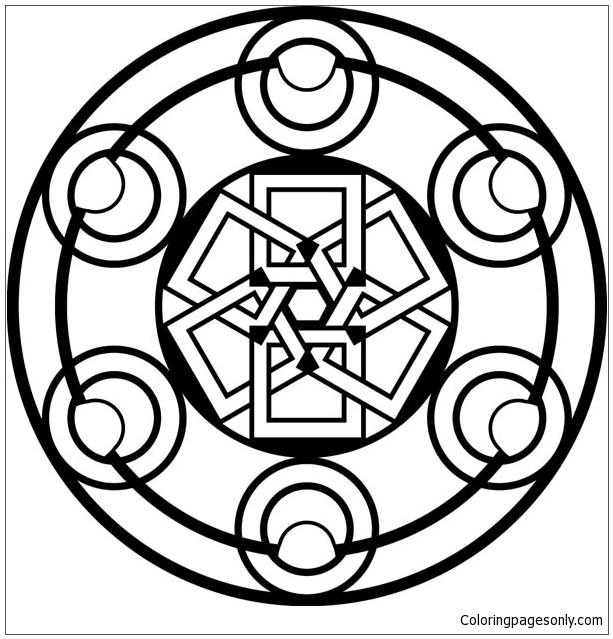 Another Type Of Celtic Mandala Coloring Page Free Coloring Pages Online