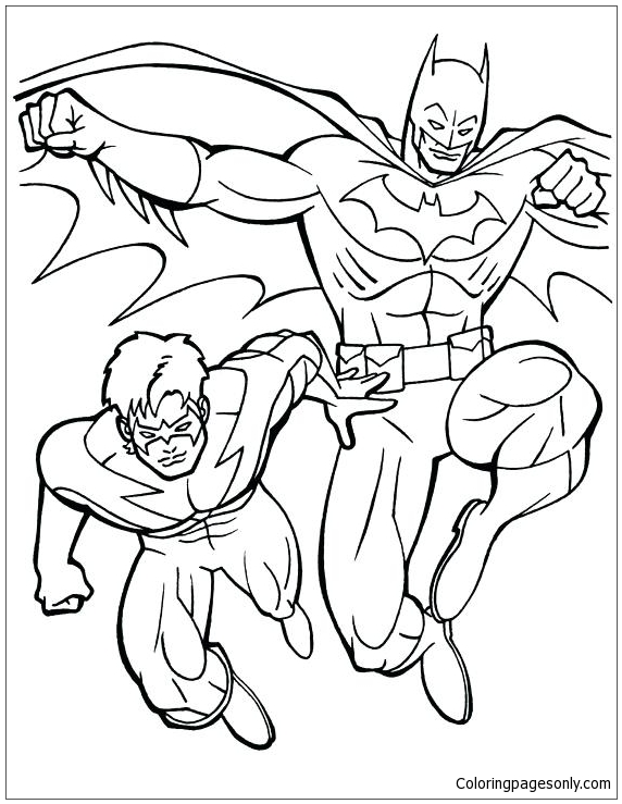 Batman And Robin 3 Coloring Page Free Coloring Pages Online