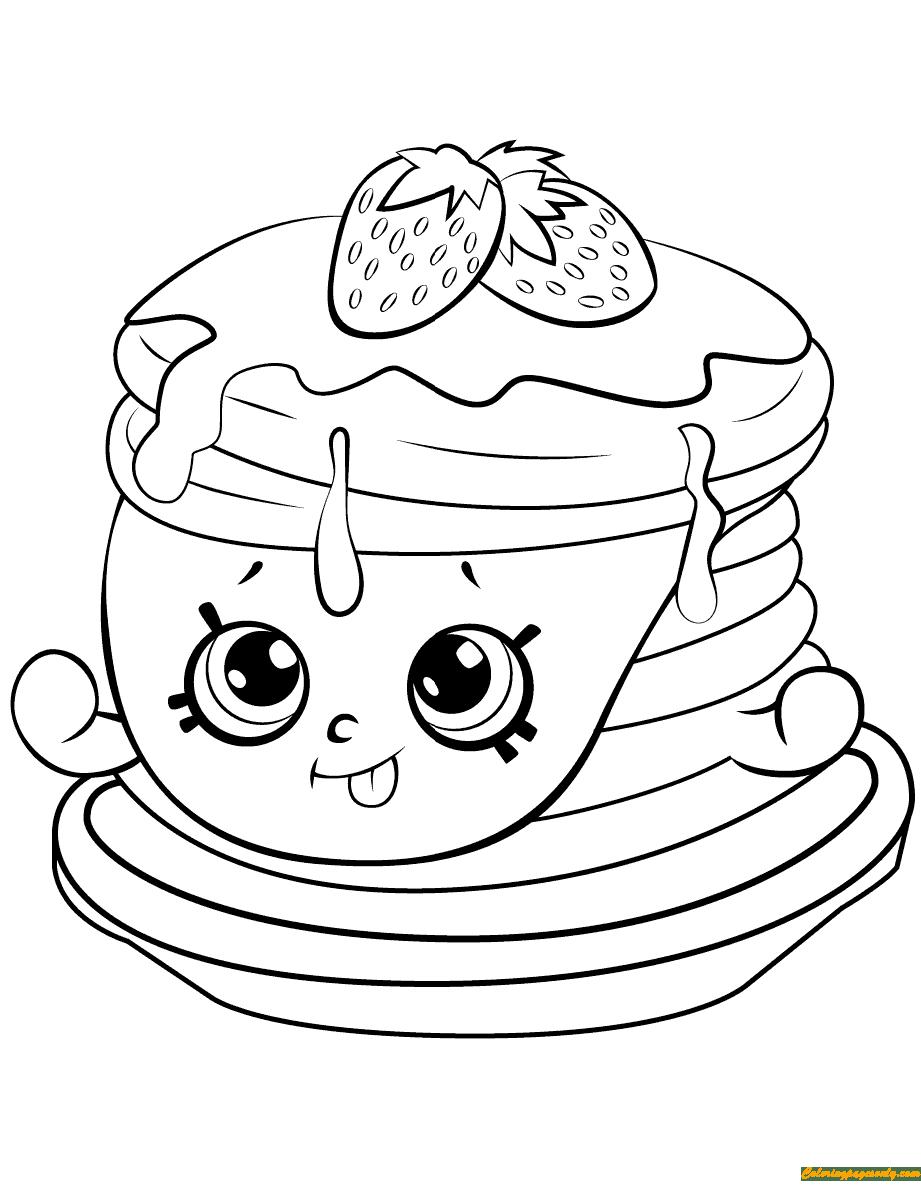 Berry Sweet Pancakes Shopkins Season 6 Coloring Page