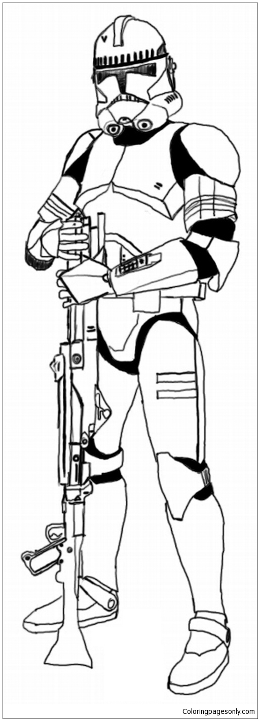 clone trooper coloring page  free coloring pages online