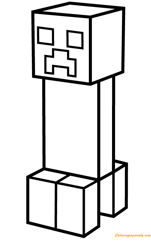 Minecraft Coloring Pages Creeper : minecraft, coloring, pages, creeper, Creeper, Coloring, Pages, Cartoons, Printable, Online