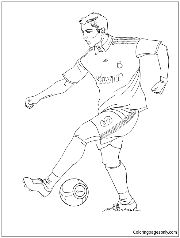 Cristiano Ronaldo Coloring Pages : cristiano, ronaldo, coloring, pages, Cristiano, Ronaldo-image, Coloring, Pages, Soccer, Players, Printable, Online