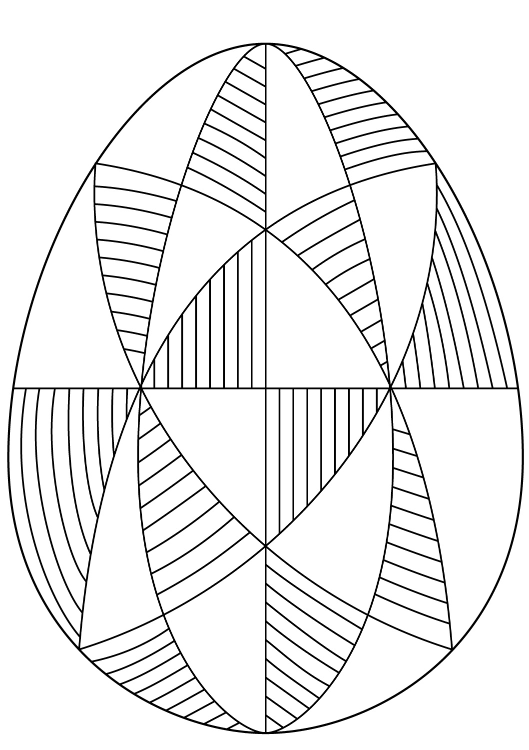 simple ukrainian easter egg coloring page auto electrical wiring  spiral