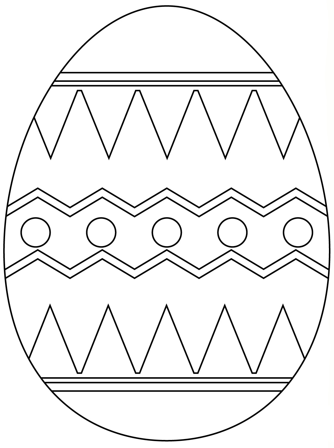 Colorful Easter Egg Pattern Coloring Page