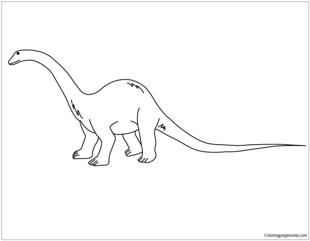 Diplodocus 9 Coloring Pages - Dinosaurs Coloring Pages - Coloring