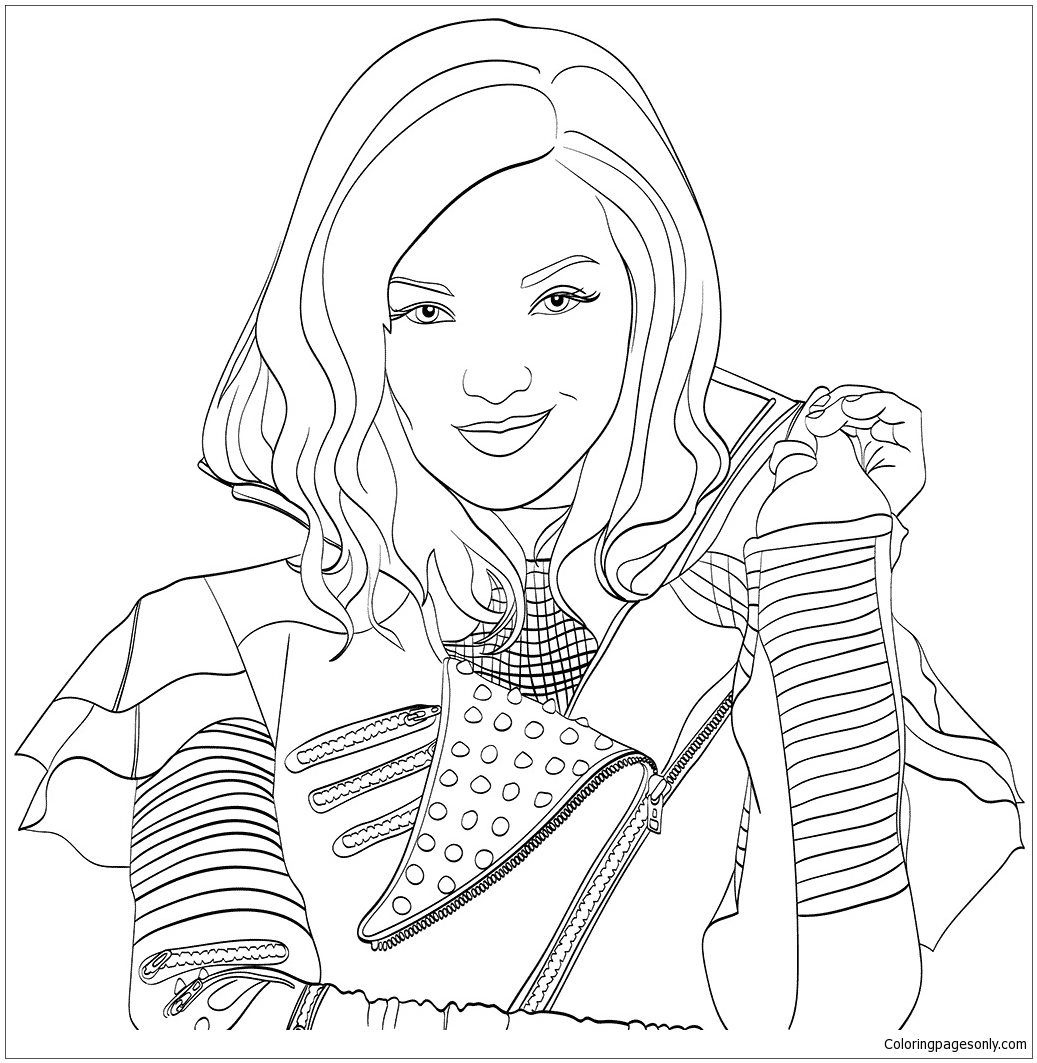 Disney Descendants Coloring Page Free Coloring Pages Online