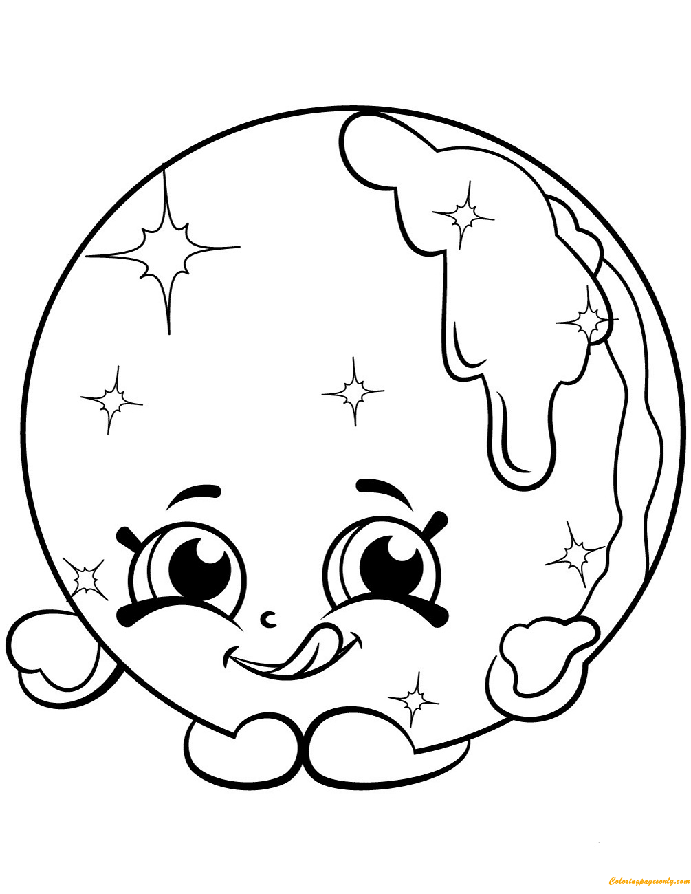 Cake Cup Coloring Pages