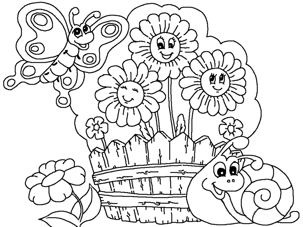 Children Of The World Do Planting Tree Coloring Page