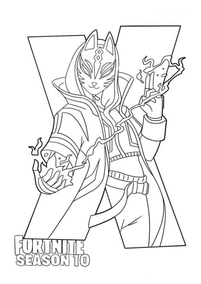 Fortnite Drift in Season 21 Coloring Pages - Fortnite Coloring