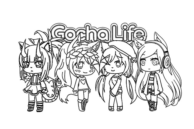 Gacha Life Coloring Pages - Coloring Pages For Kids And Adults