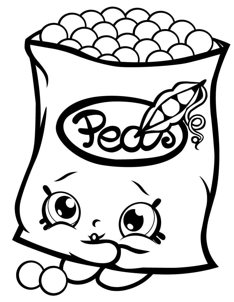Print Sweet Pea Shopkins Coloring Page Free Coloring Pages Online