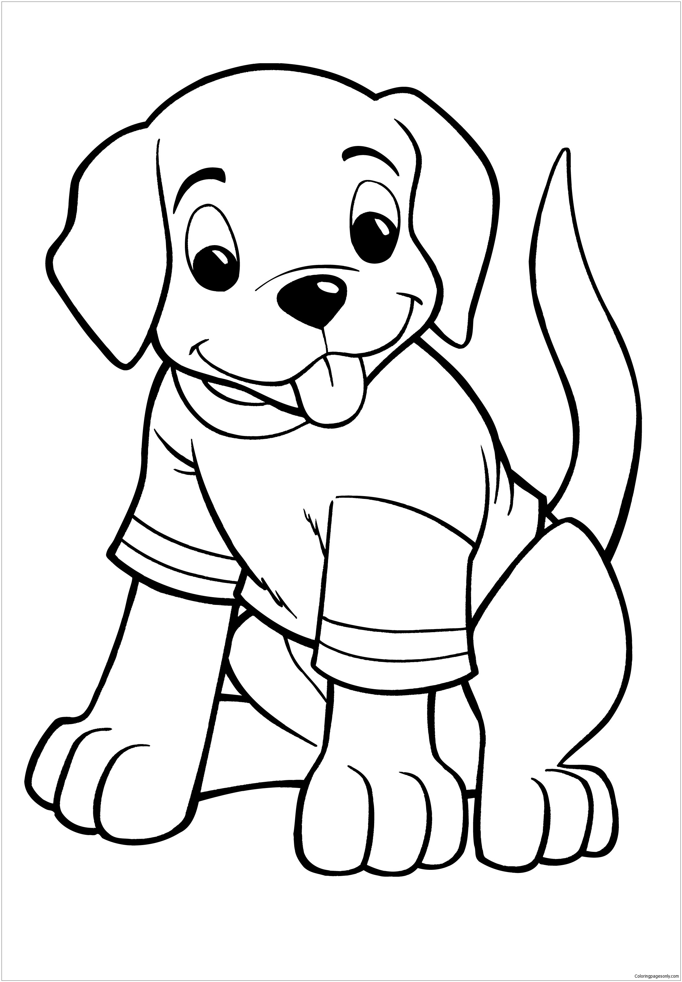Great Puppy Coloring Page
