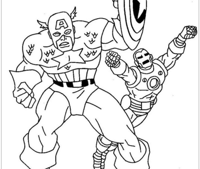 Ironman Vs Captain America Coloring Page Free Coloring Pages Online