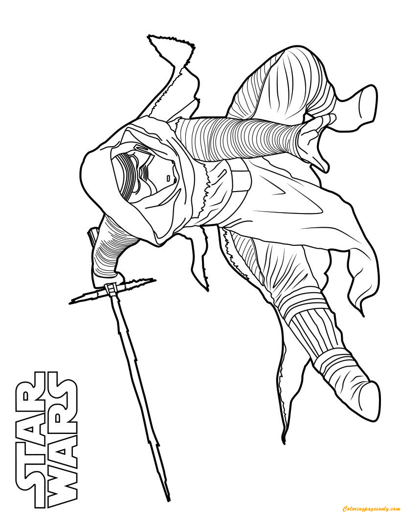 Kylo Ren Star Wars Coloring Page Free Coloring Pages Online