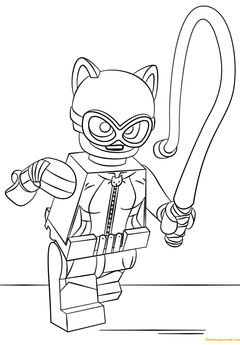 Lego Batman Catwoman Coloring Page Free Coloring Pages