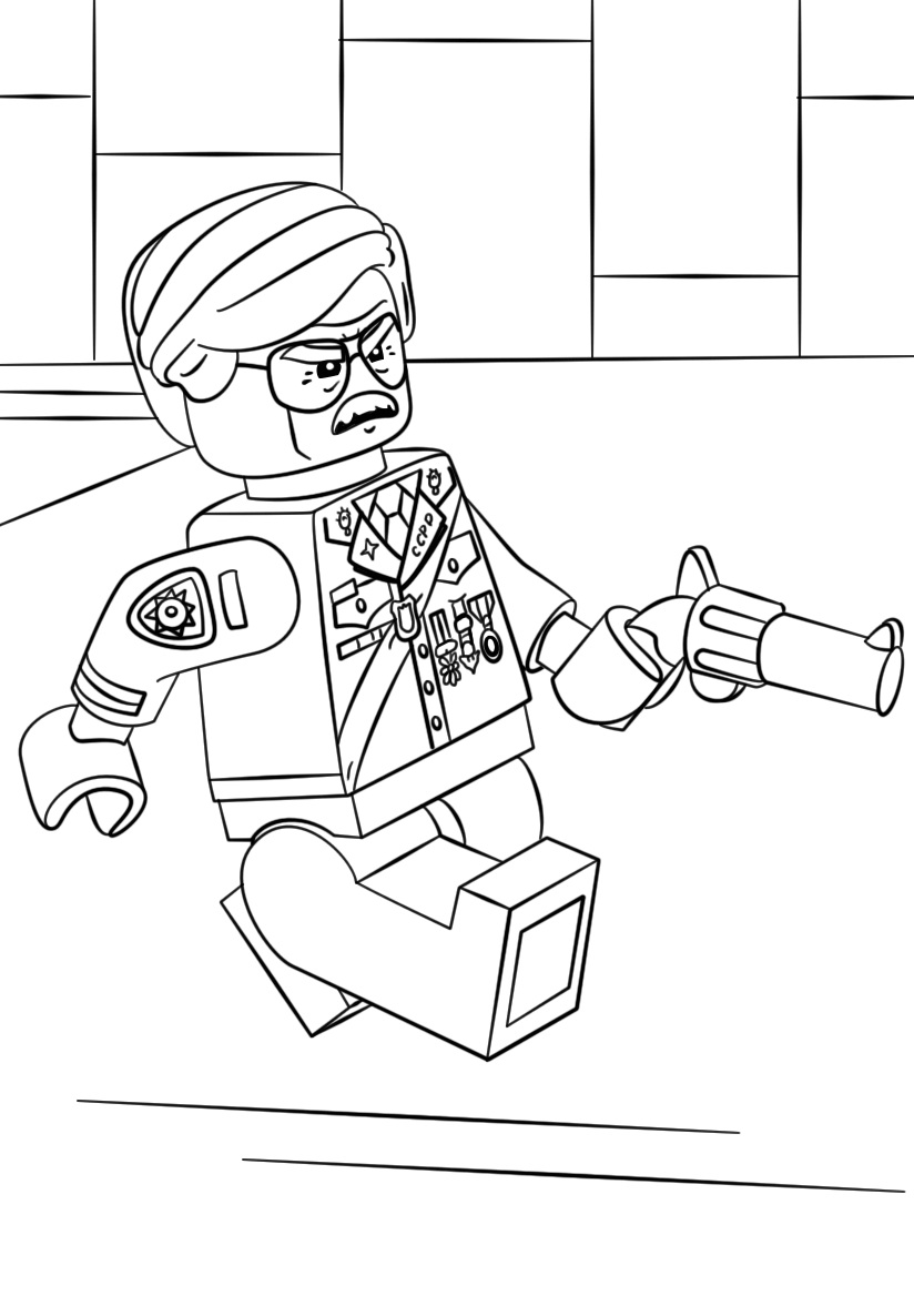 Lego City Airplane Coloring Pages