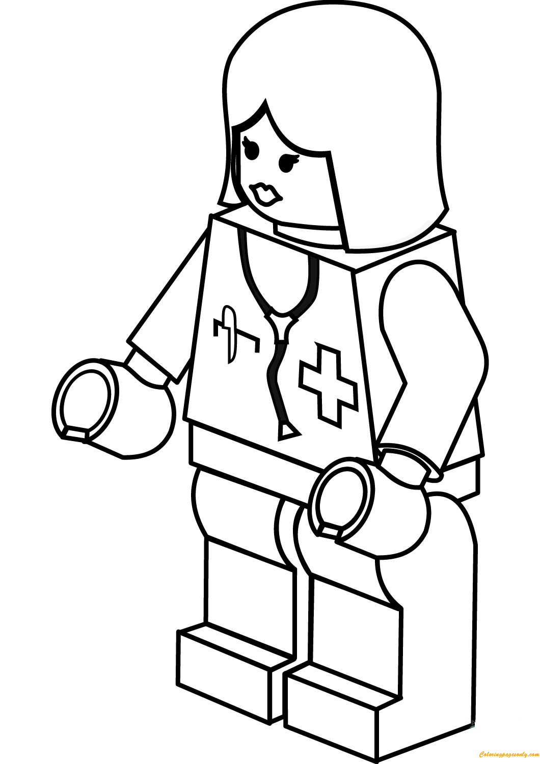 Lego City Lady Doctor Coloring Page Free Coloring Pages