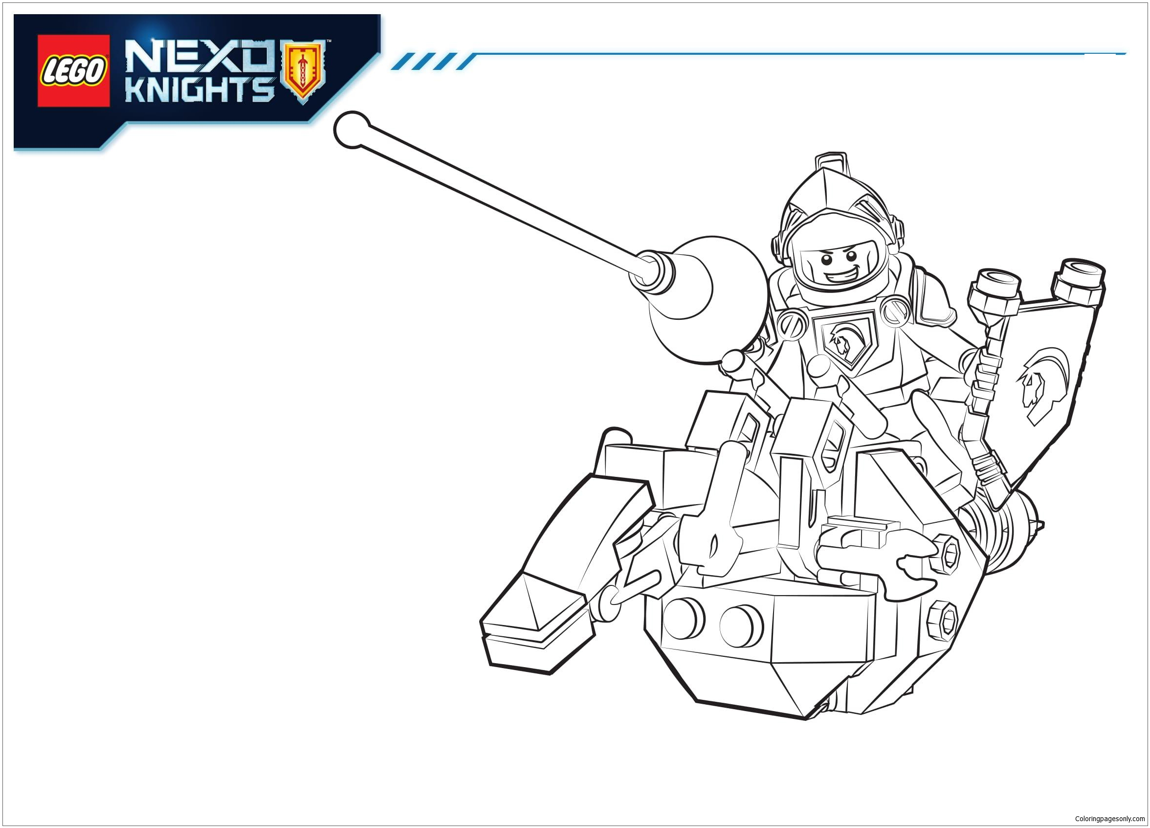 Lego Nexo Knights Lance Coloring Page Free Coloring