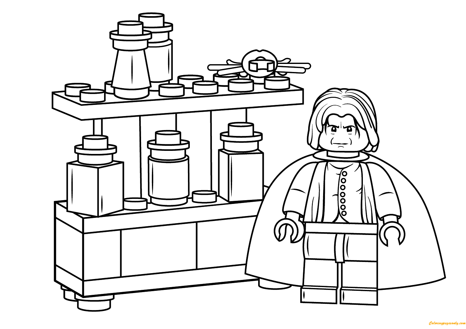 Lego Severus Snape Harry Potter Coloring Page