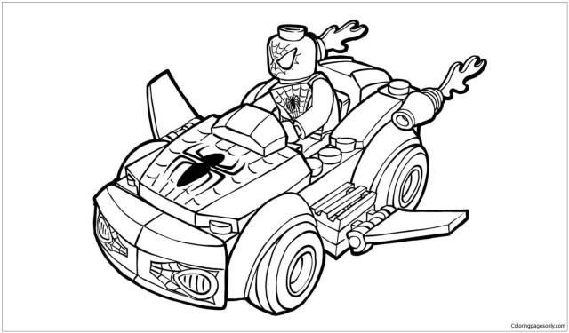 Lego Spiderman Coloring Pages - Lego Coloring Pages - Coloring