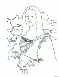 The Mona Lisa Coloring Page - Free Coloring Pages Online