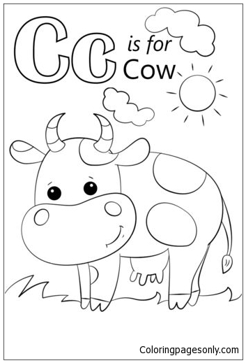 Letter C Is For Cow Coloring Page Free Coloring Pages Online