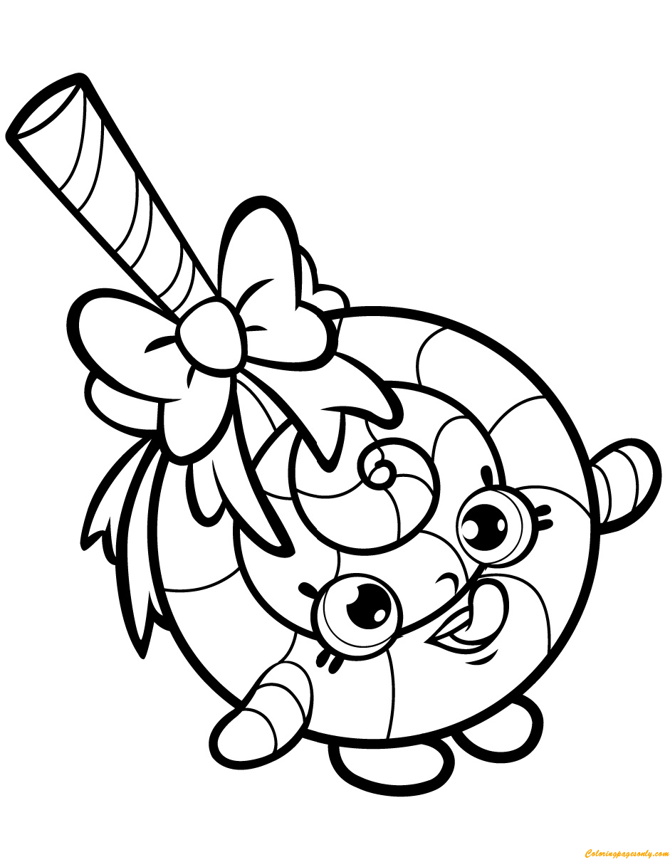 Lolli Poppins Shopkin Season 1 Coloring Page Free Coloring Pages