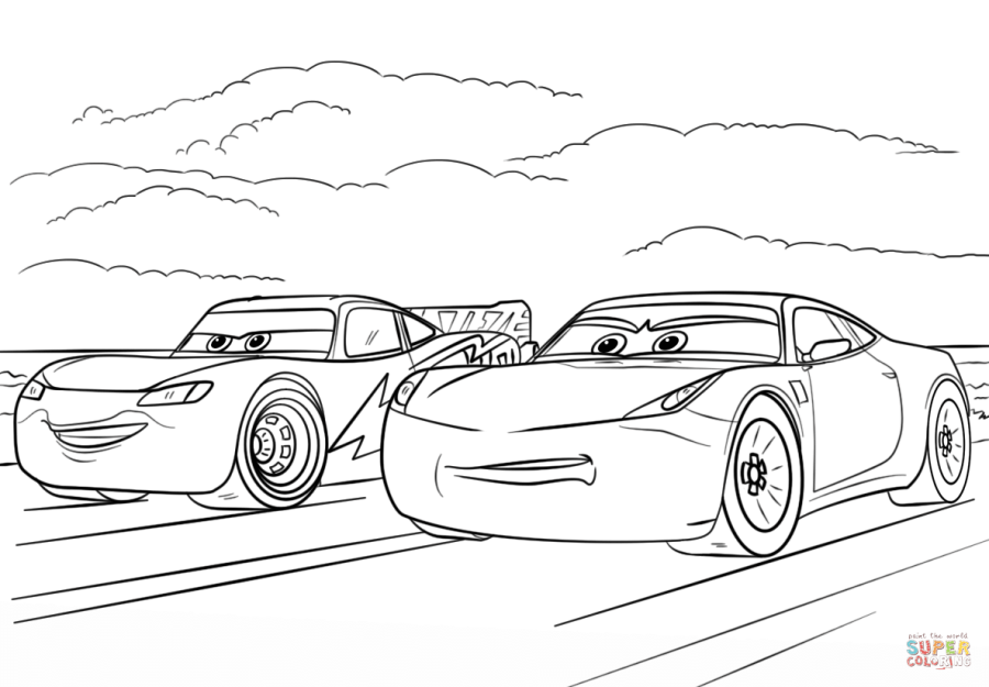 McQueen and Ramirez from Cars 3 from Disney Cars Coloring ...
