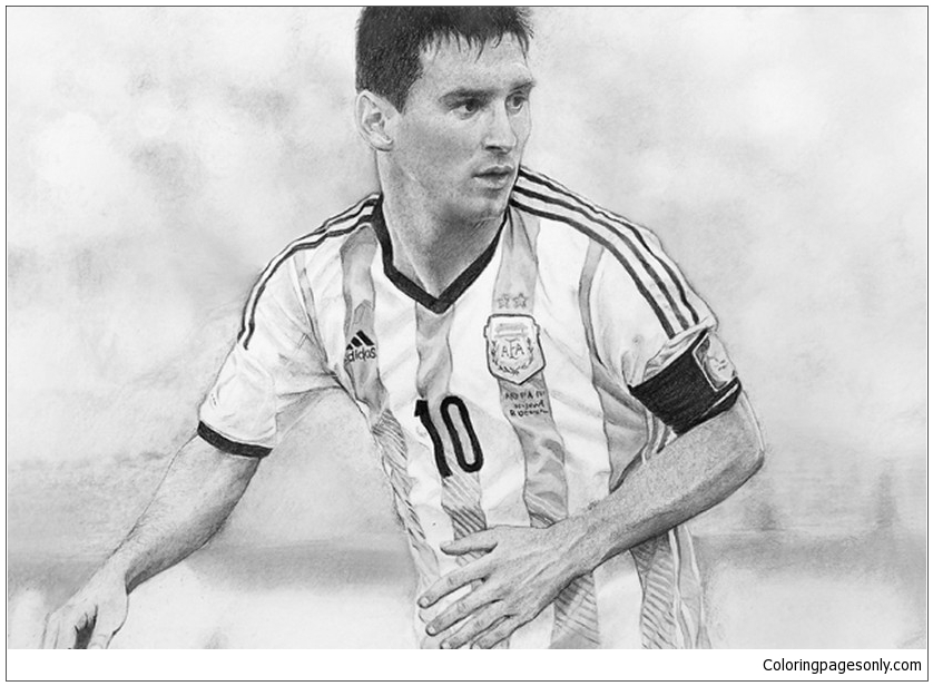 lionel andrés messi coloring page  free coloring pages online