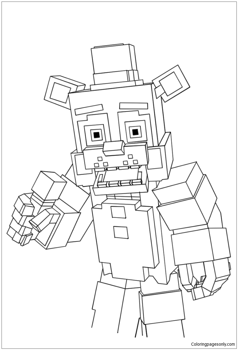 Minecraft Free Coloring Pages : minecraft, coloring, pages, Minecraft, Freddy, Coloring, Pages, Cartoons, Printable, Online