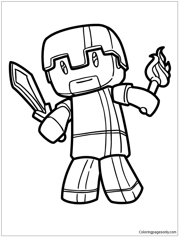 Minecraft Logo Colouring Pages Ceria Ks