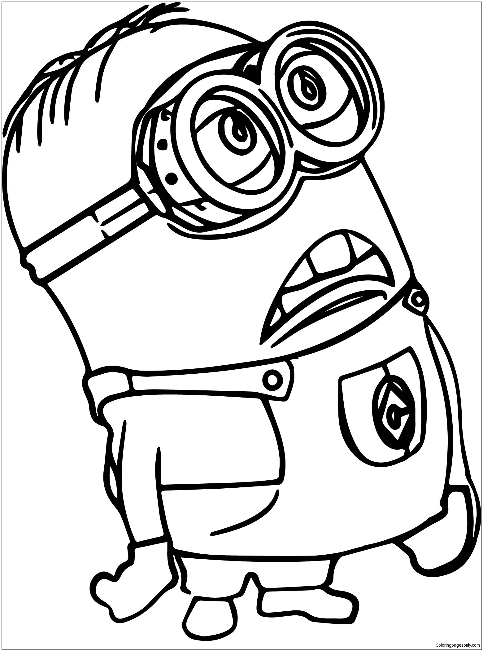 Minion Of Despicable Me Coloring Page Free Coloring