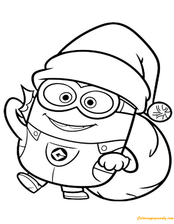 Minions Christmas Coloring Page Free Coloring Pages Online