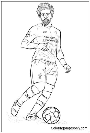 Mohamed Salah Image 3 Coloring Page Free Coloring Pages