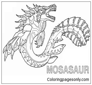 Mosasaur 2 Coloring Page Free Coloring Pages Online