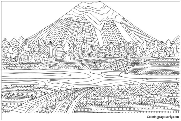 25+ Landscape Coloring Page Tree And Grass Pictures and Ideas on Pro ...