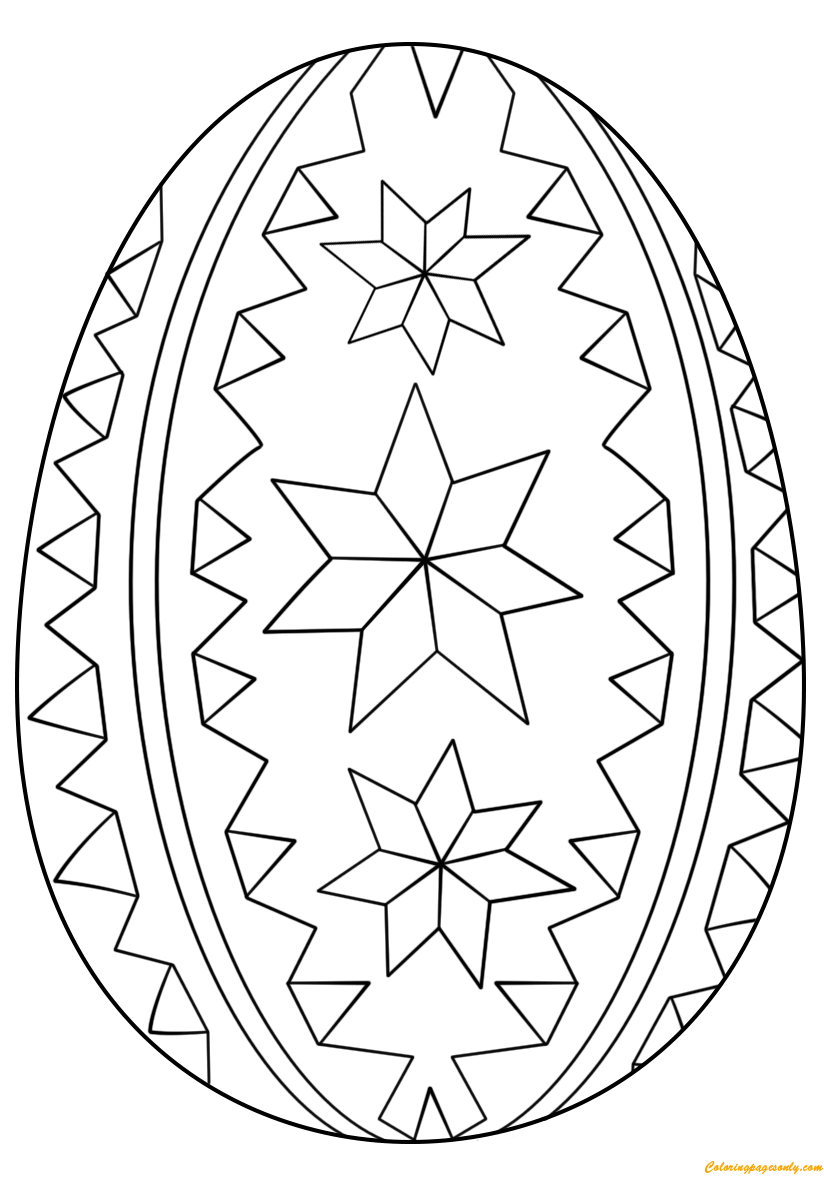 Ornate Easter Egg Ornaments Coloring Page Free Coloring Pages Online