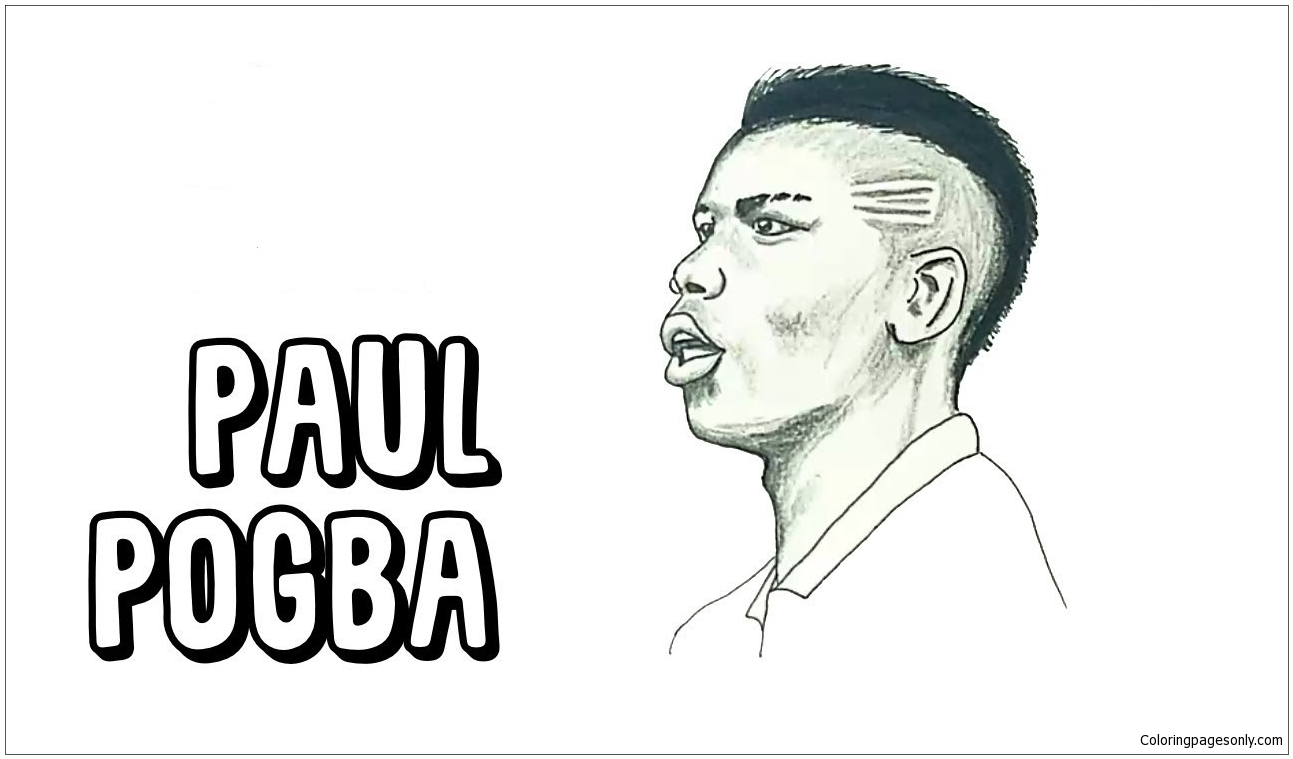 Paul Pogba Image 3 Coloring Page Free Coloring Pages Online