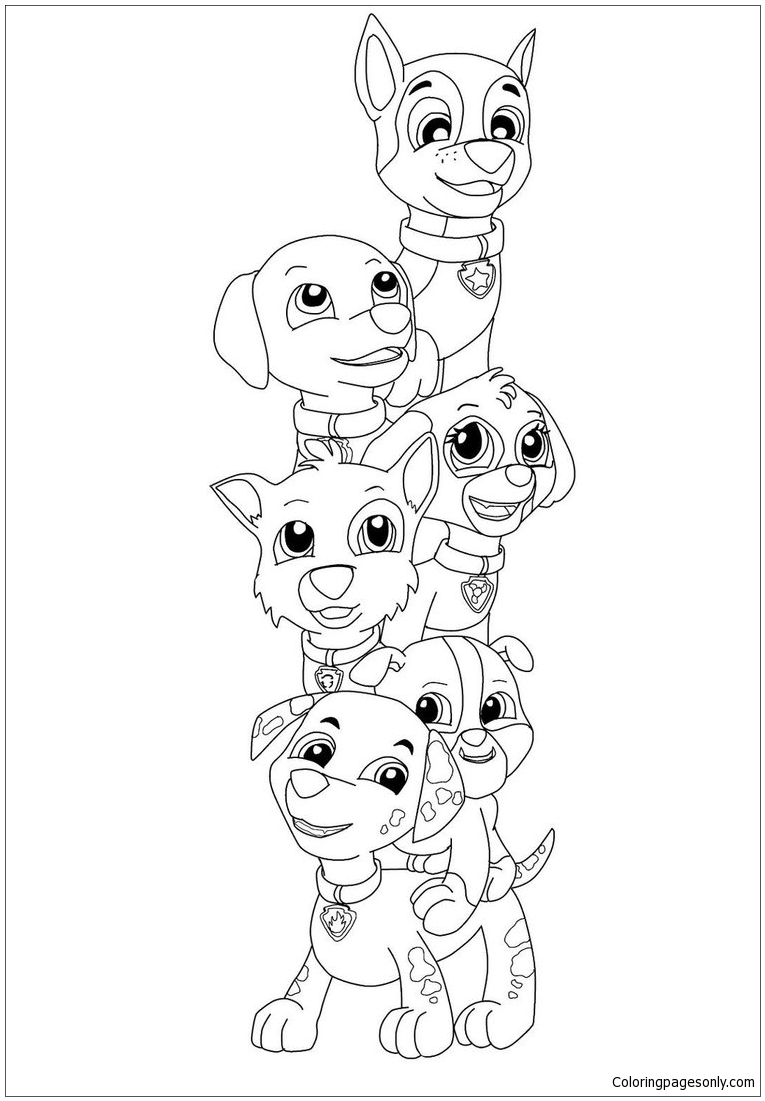 Paw Patrol Pup Everest Coloring Page Free Coloring Pages Online