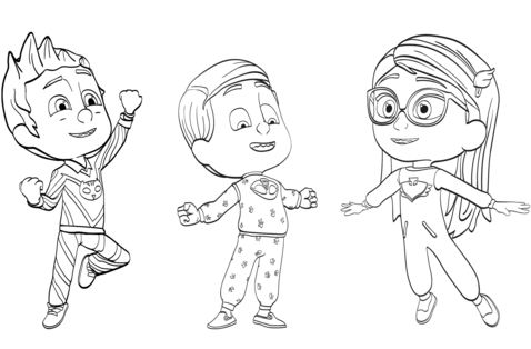 Disney PJ Masks Coloring Page - Free Coloring Pages Online