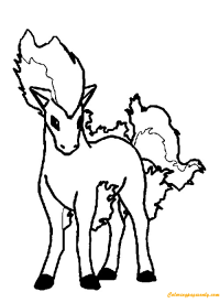 Ponyta Pokemon Coloring Page - Free Coloring Pages Online