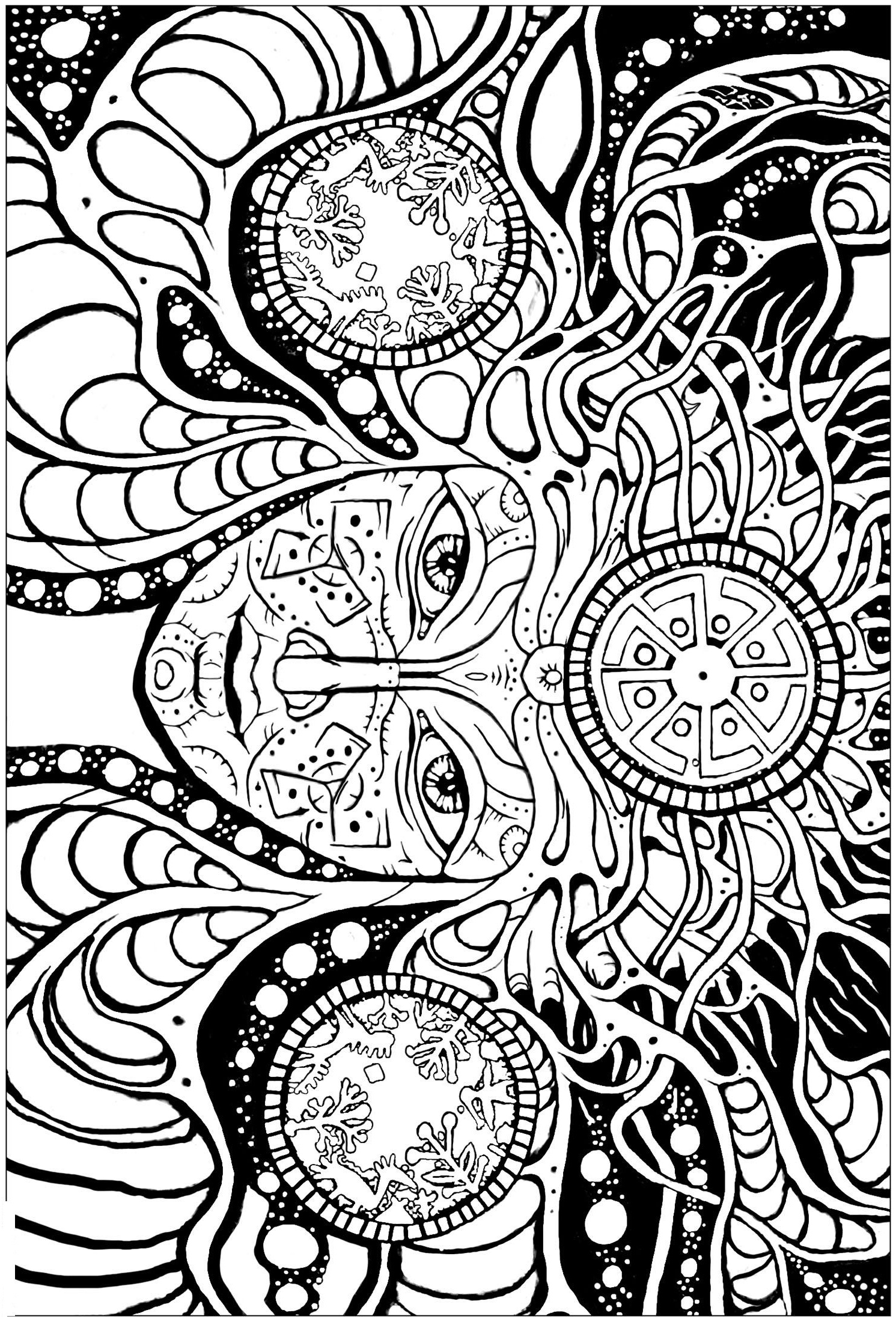 Rosette Intricate Patterns Coloring Page Free Coloring