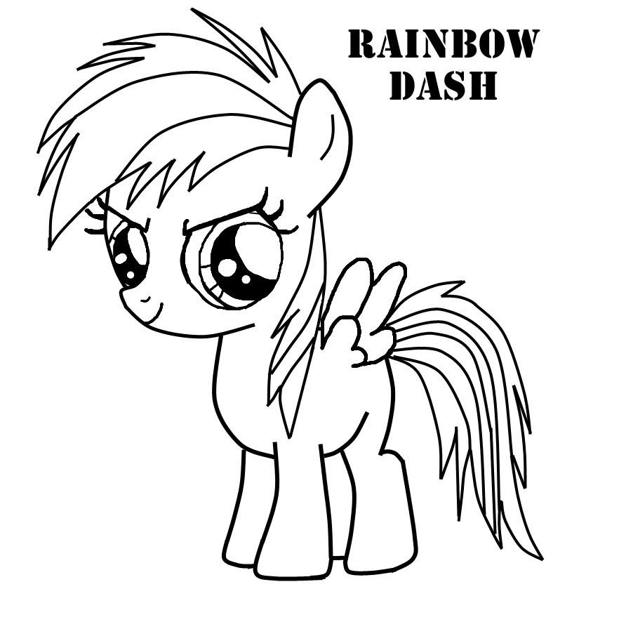 Rainbow Dash Coloring Pages Coloringpagesonly
