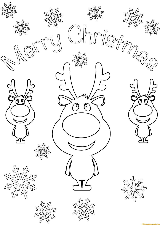 Coloring Page Christmas Card Christmas Card Printable Coloring