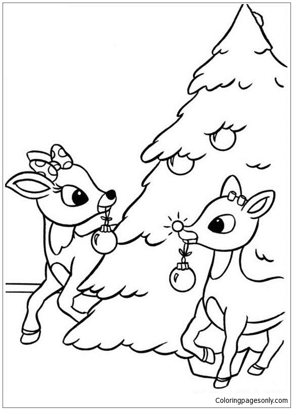 Rudolph Coloring Page : rudolph, coloring, Rudolph, Nosed, Reindeer, Coloring, Pages, Holidays, Printable, Online