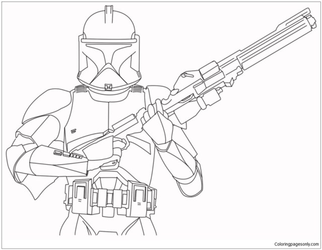 Stormtrooper - Star Wars 30 Coloring Pages - Cartoons Coloring