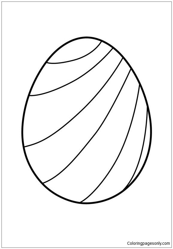 Striped Easter Egg Coloring Page Free Coloring Pages Online