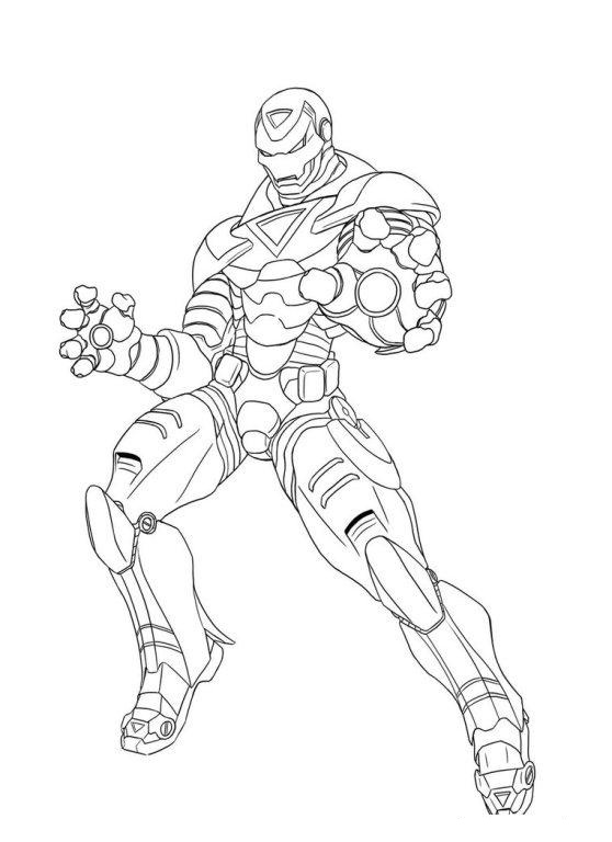 Angry Thanos Coloring Page
